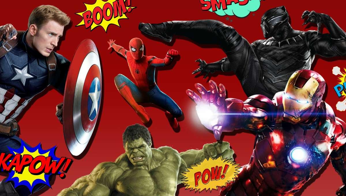 Avengers fighting image