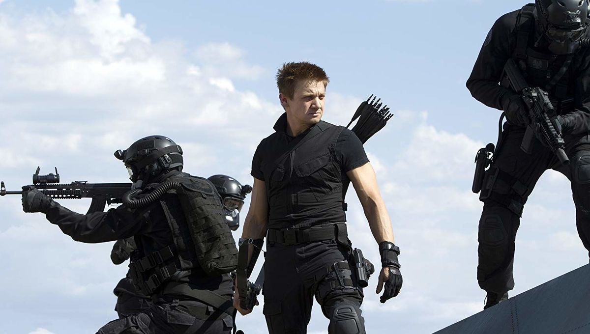 Jeremy Renner as Hawkeye in Avengers
