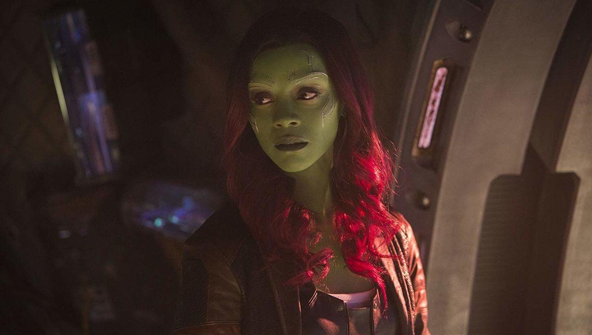 Zoe Saldana as Gamora in Infinity War