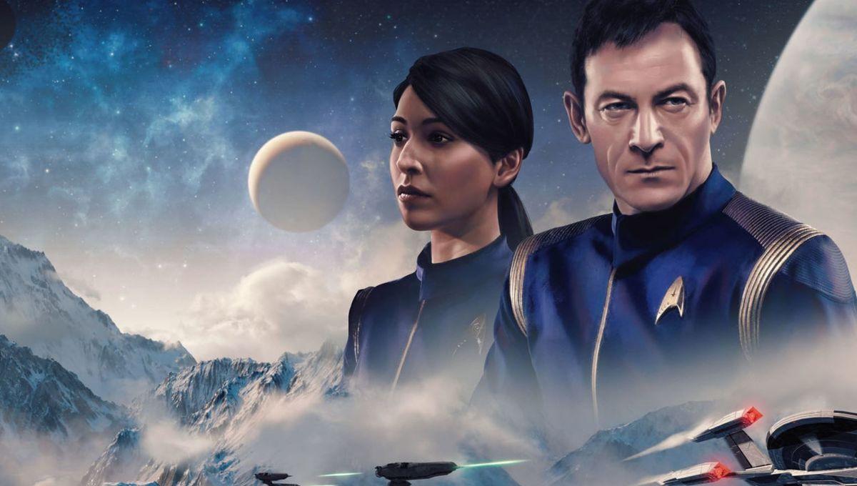 Captain Lorca and Commander Landry on Star Trek Online