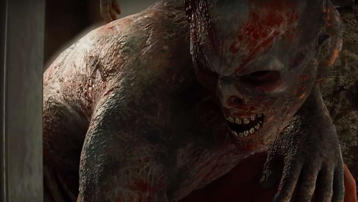 A zombie meances in the World War Z video game