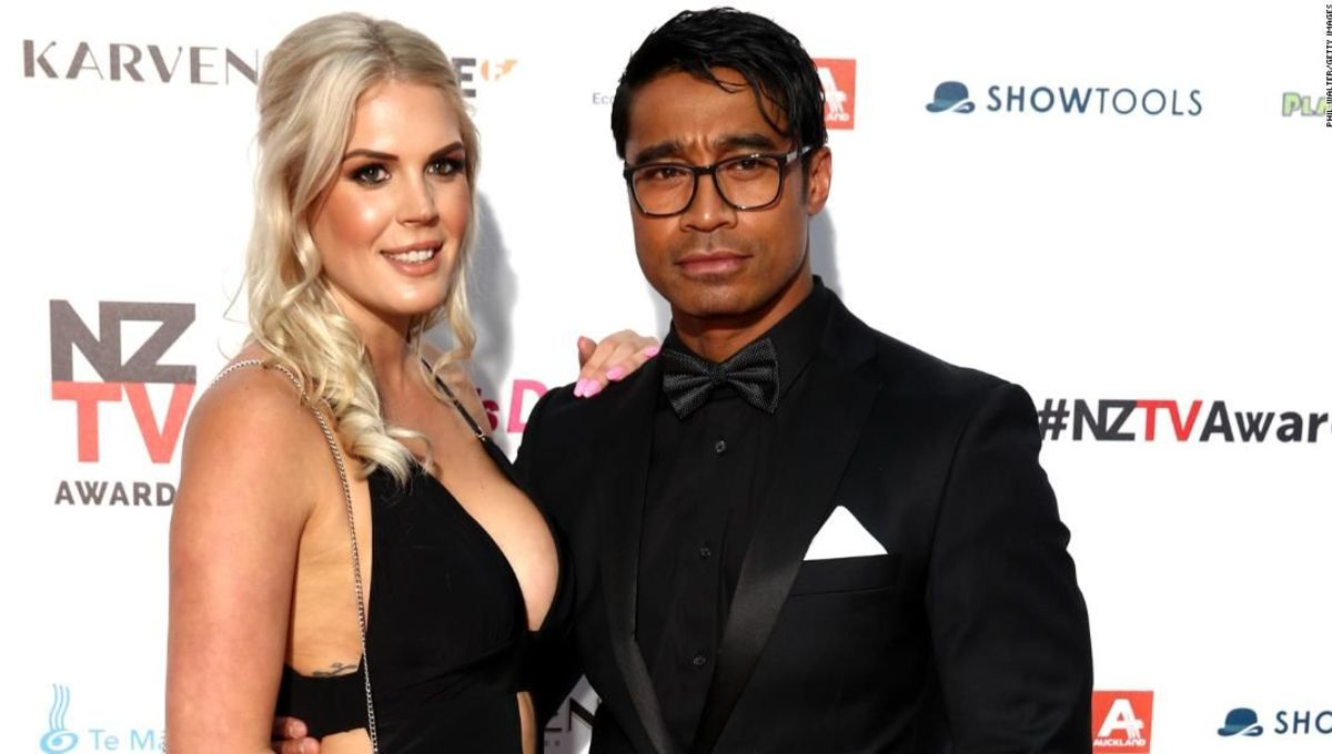 Actor Pua Magasiva and wife Lizz Sadler