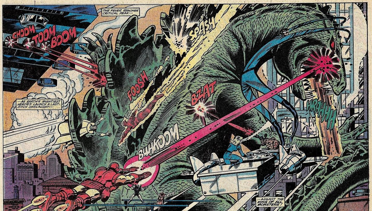 Godzilla vs The Avengers in Marvel Comics