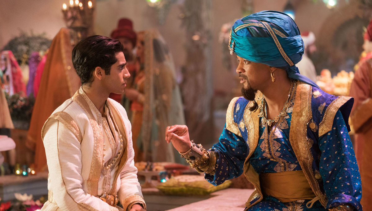 Mena Massoud and Will Smith Aladdin