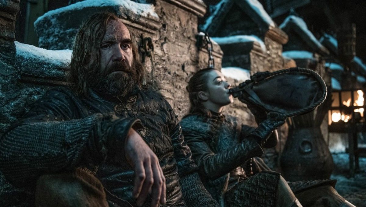 Arya and The Hound in Game of Thrones on HBO