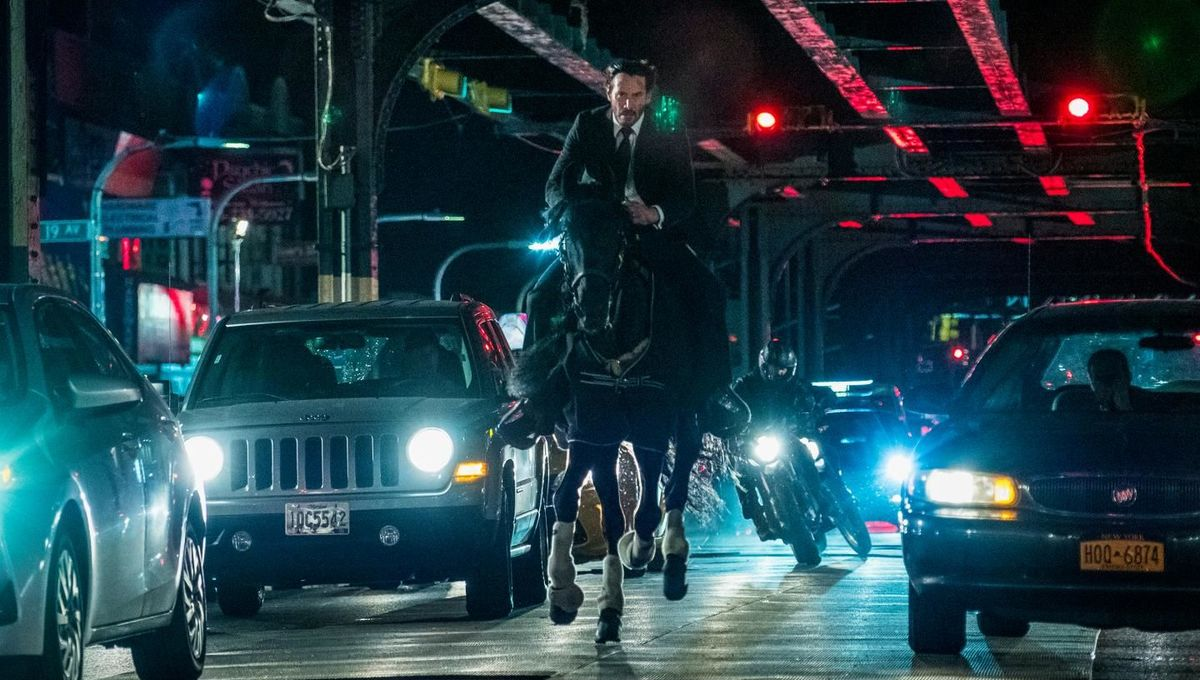 john wick 3 on a horse