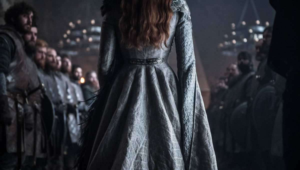 Sansa Stark in her Helen Sloan designed Queen gown