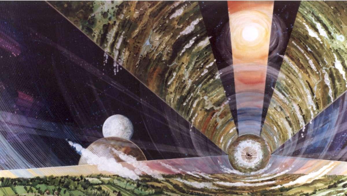 NASA image of an O'Neill colony