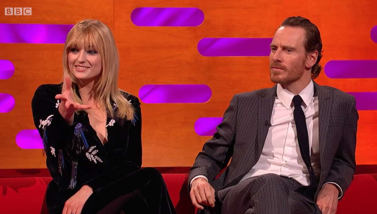 Sophie Turner demonstrates Jean Grey's power move on The Graham Norton Show
