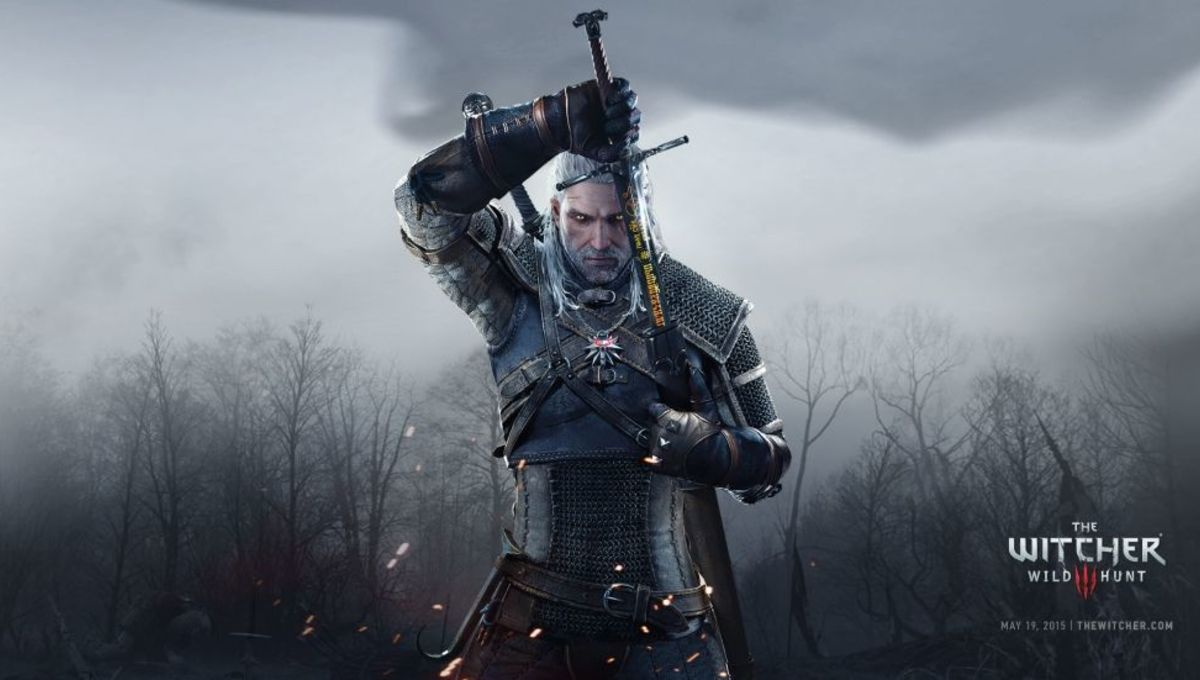 Geralt of Rivia in The Witcher 3