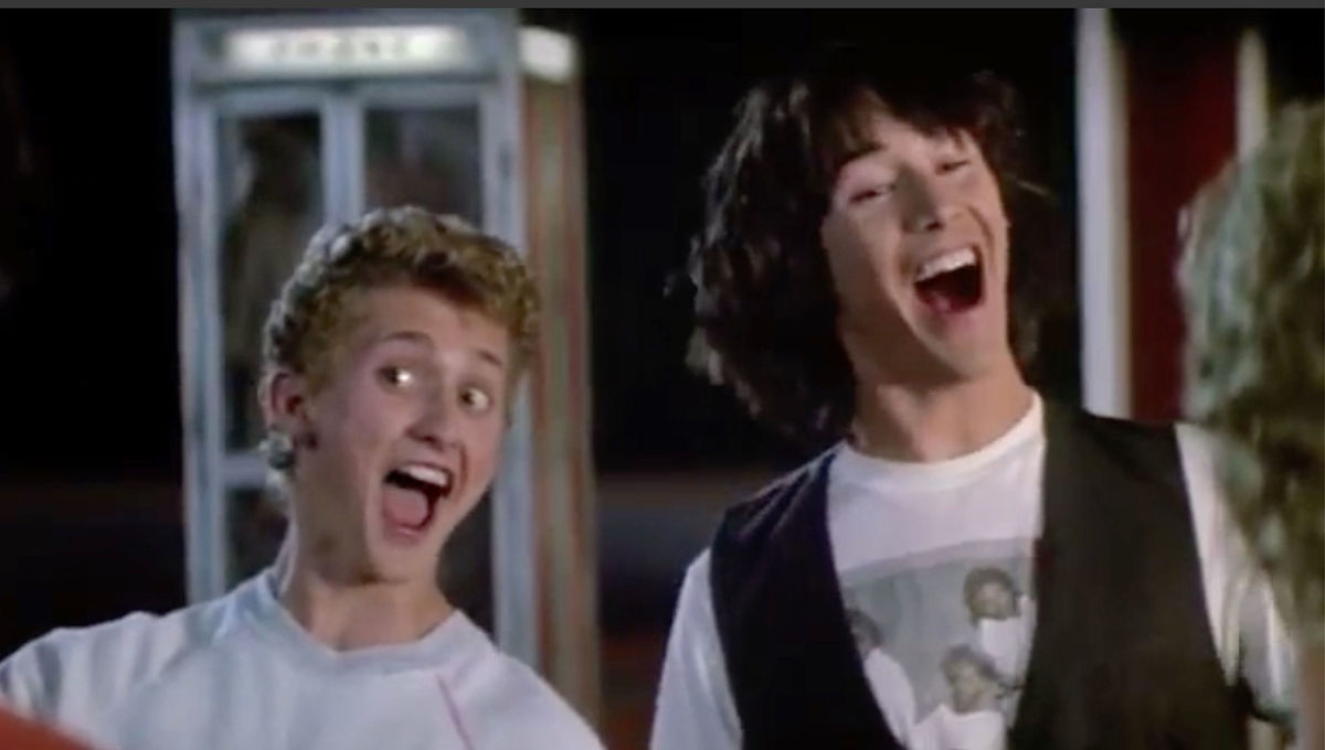 Bill and Ted in Bill and Teds Excellent Adventure