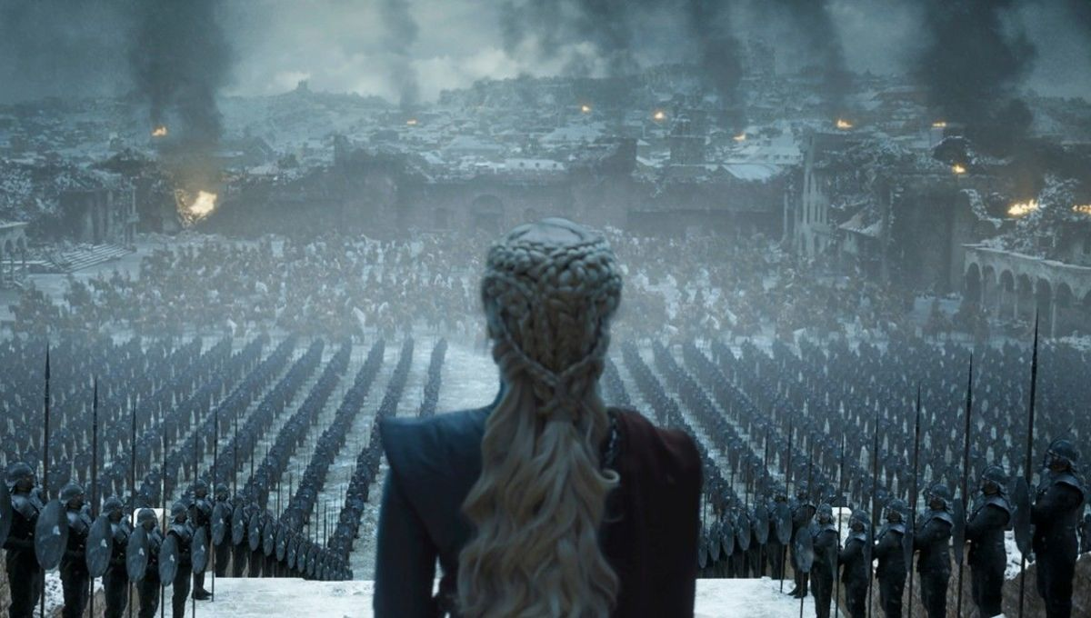 Daenerys gives a speech in Season 8 of Game of Thrones