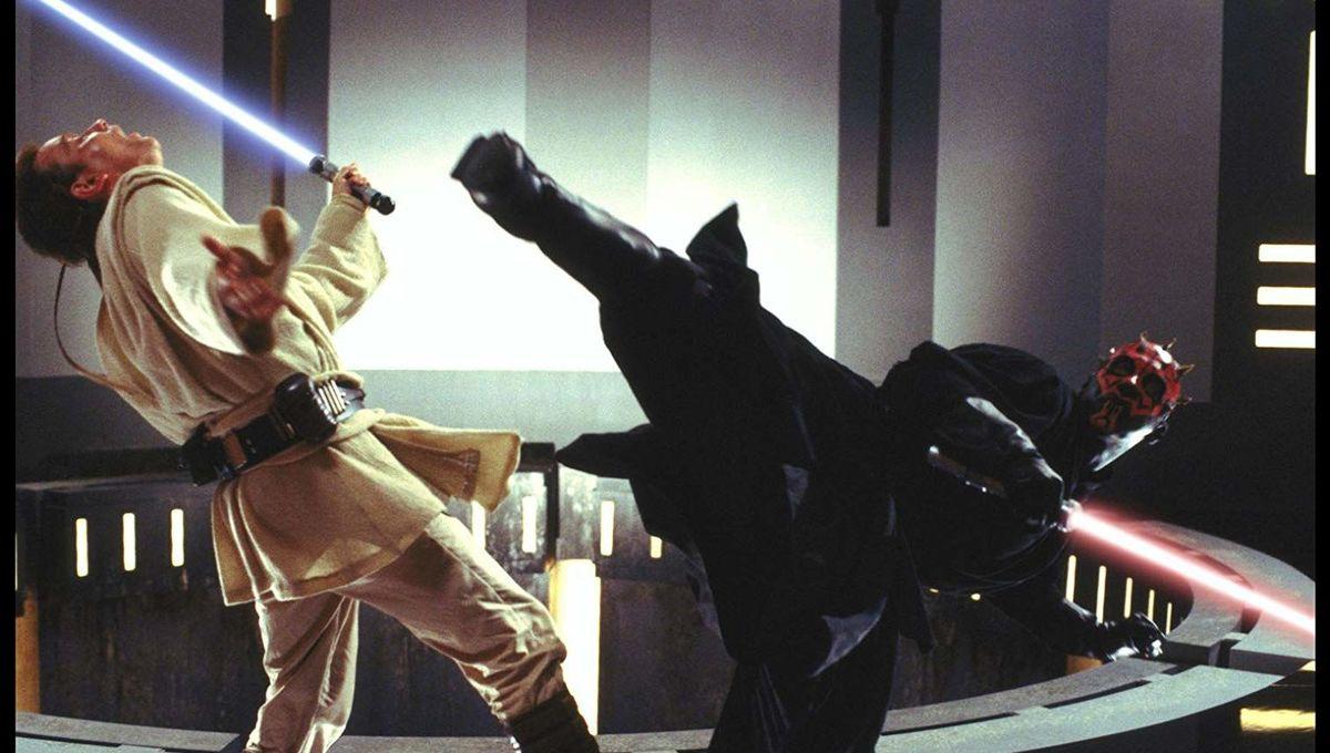 Darth Maul and Obi Wan Kenobi in Star Wars The Phantom Menace