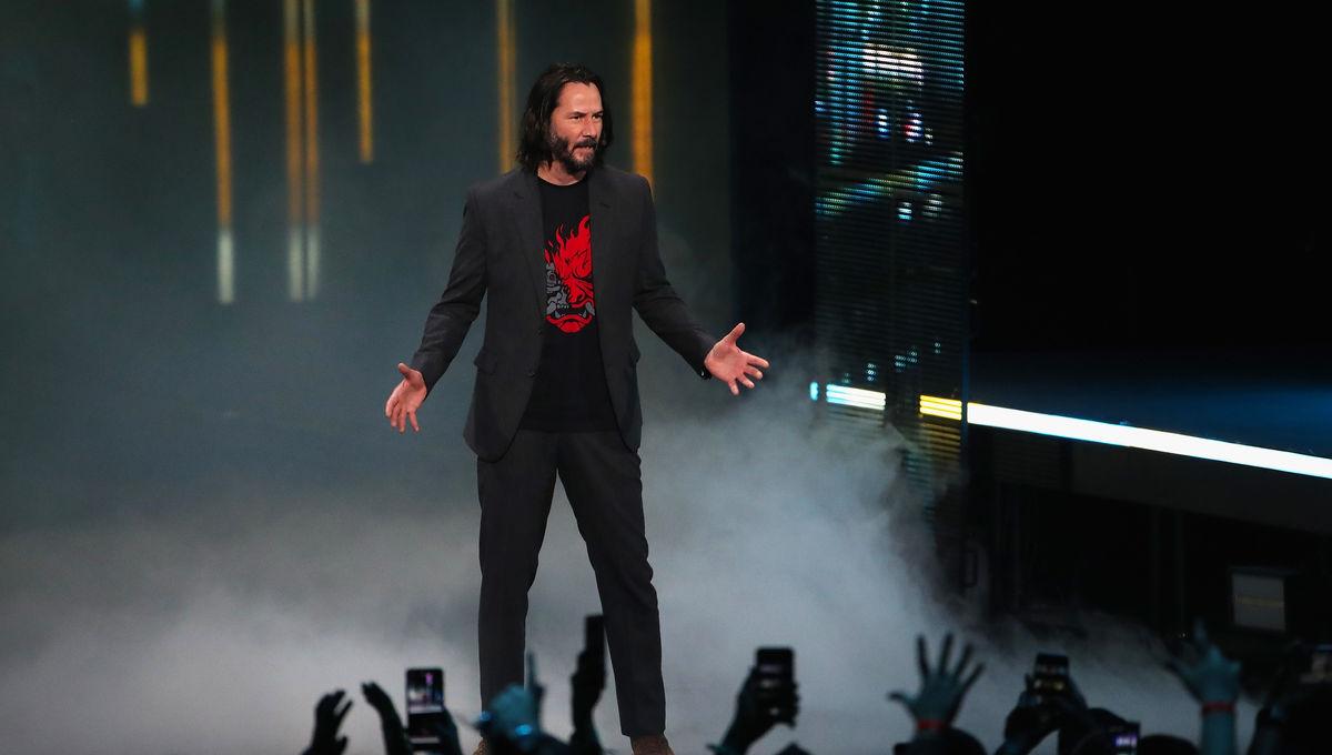 Keanu Reeves Cyberpunk 2077 announcement E3