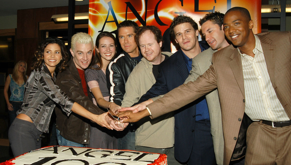 Angel cast and Joss Whedon