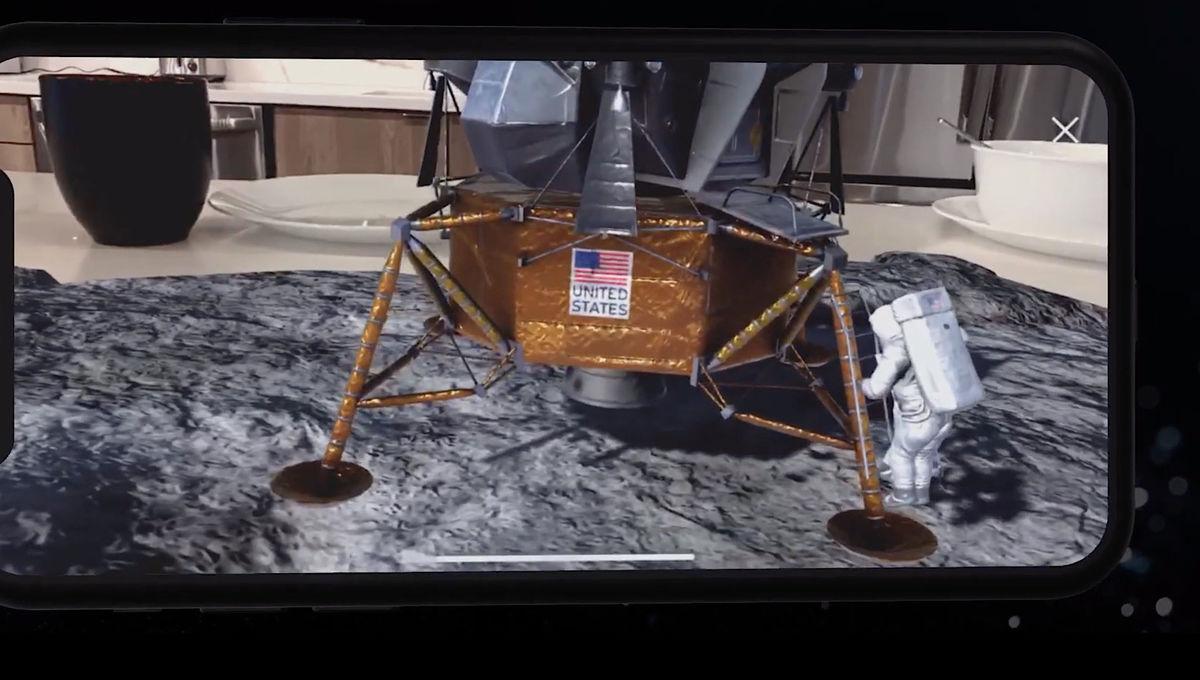 Moonshot mobile app recreates the Apollo 11 moon landing