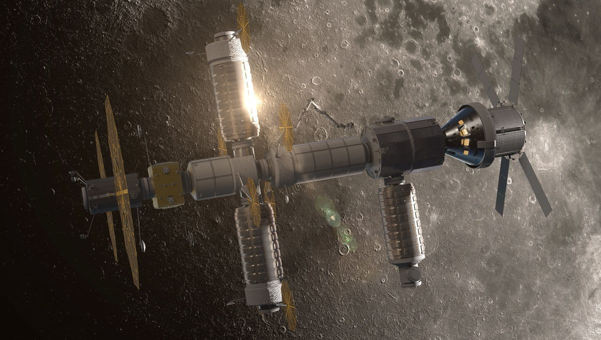 NASA image of Northrop Grumman cislunar habitat prototype