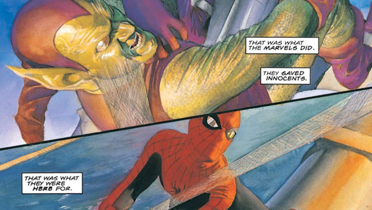 Marvels #4 (Written by Kurt Busiek, Art by Alex Ross)