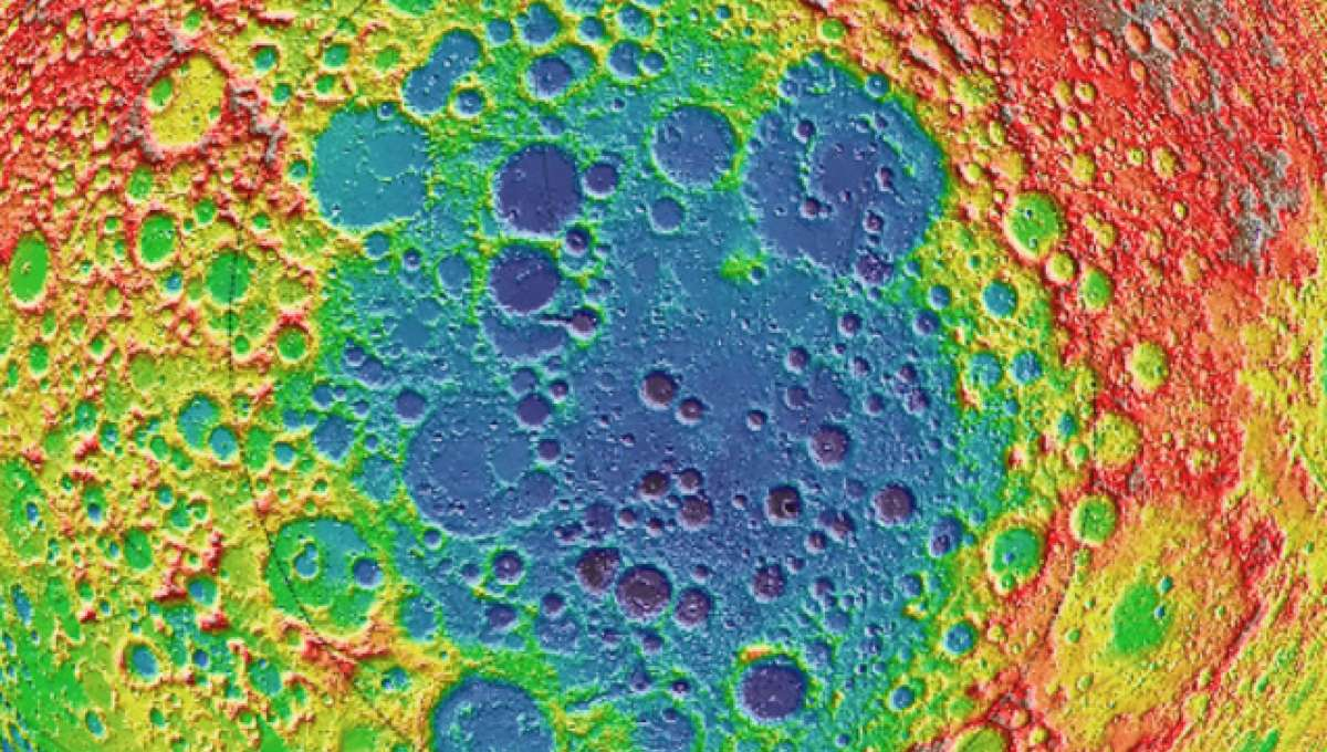South Pole-Aitken crater on the moon
