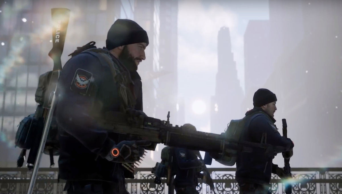 Soldiers patrol New York in The Division from Ubisoft