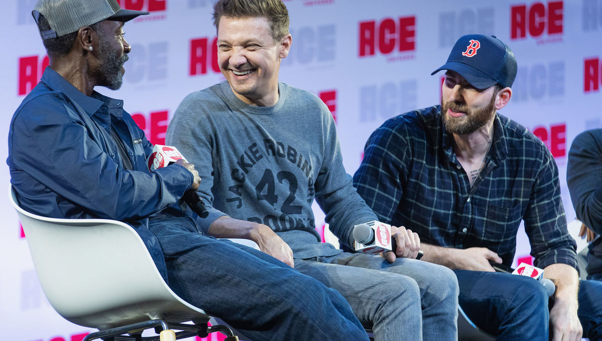 Don Cheadle, Jeremy Renner, Chris Evans at Ace Comic Con