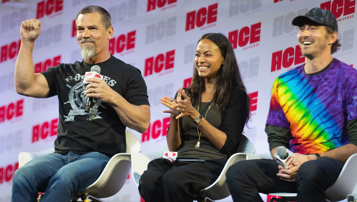 Josh Brolin, Zoe Saldana, Lee Pace at Ace Comic Con