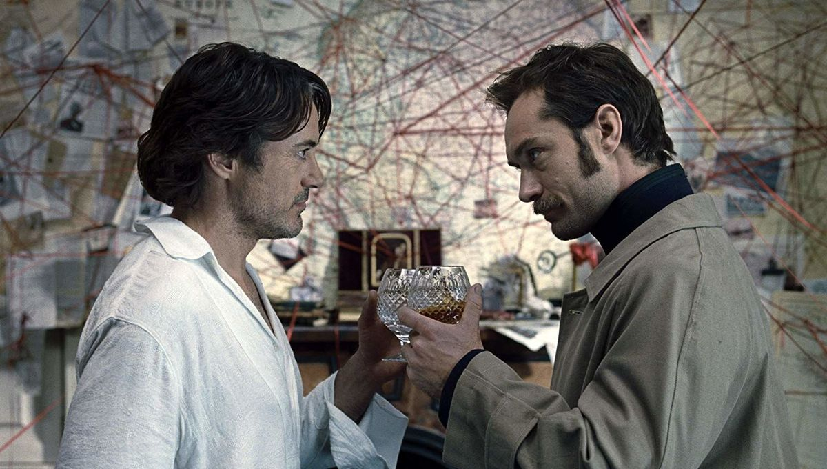 Sherlock Holmes: A Game of Shadows Jude Law and Robert Downey Jr.
