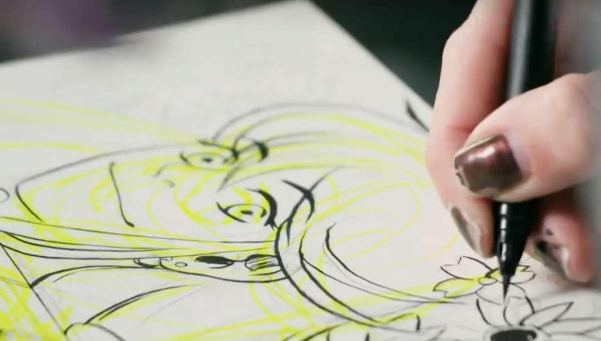 Cara McGee drawing Black Canary