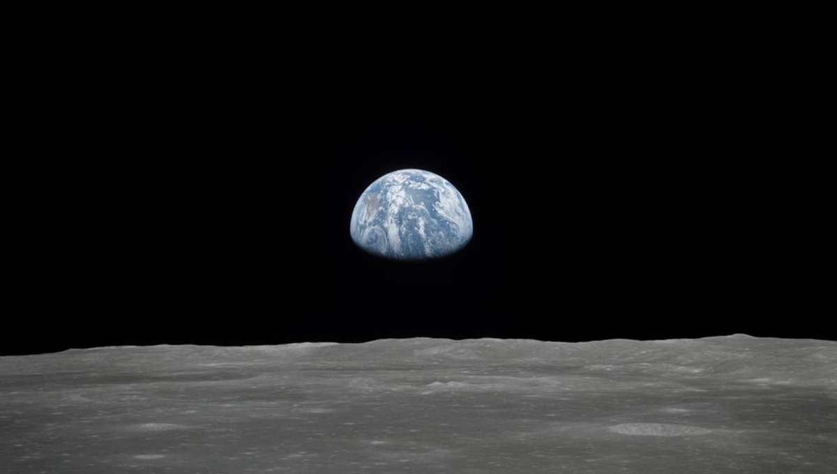 NASA view of Earth from the moon