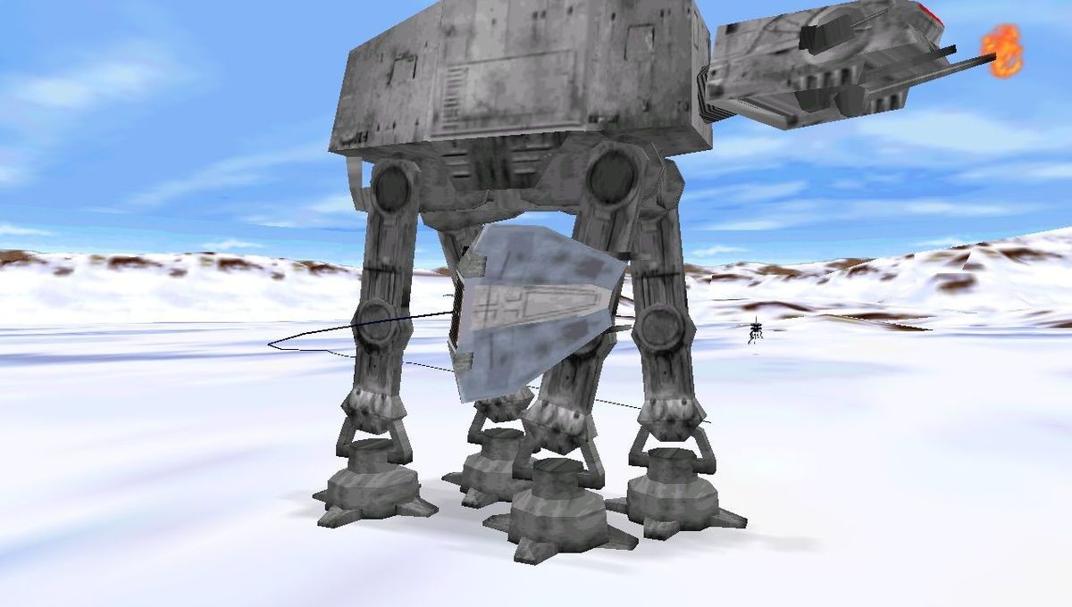 Hoth battle in Star Wars Shadows of the Empire game