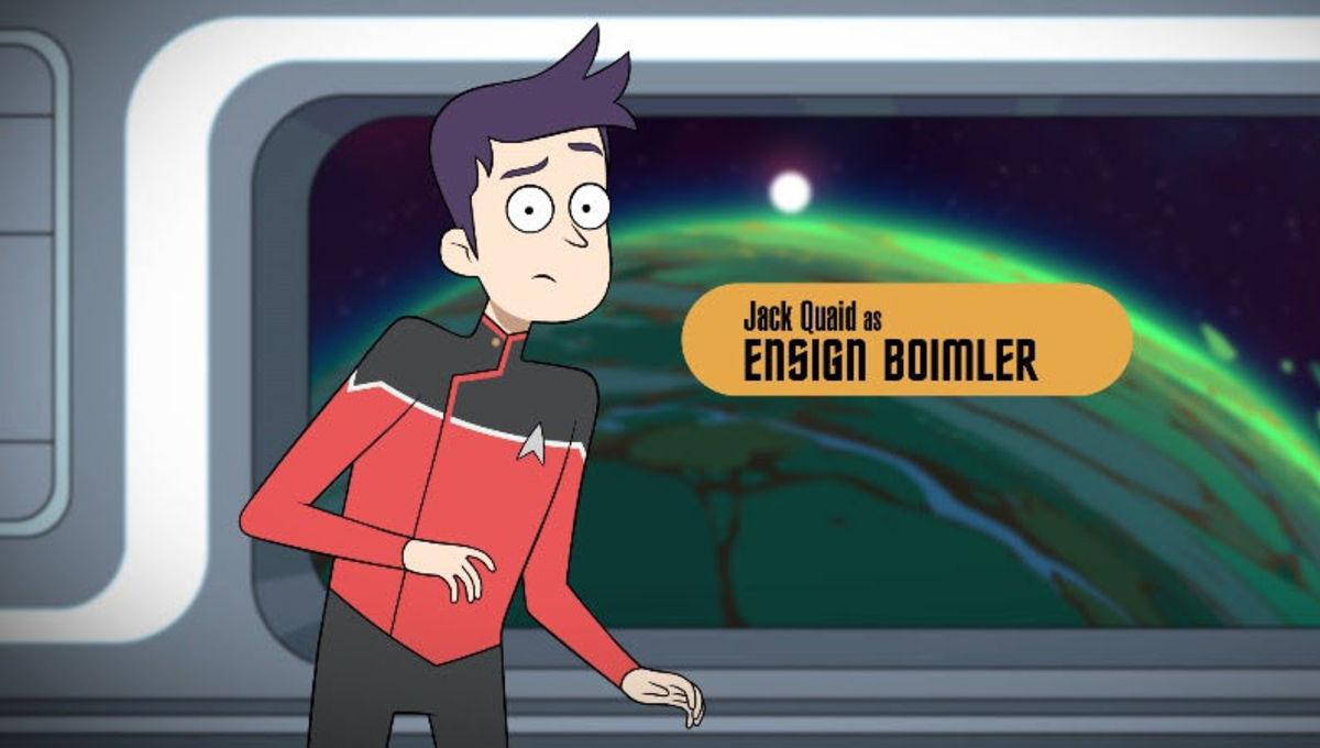Ensign Boimler on Star Trek: Lower Decks