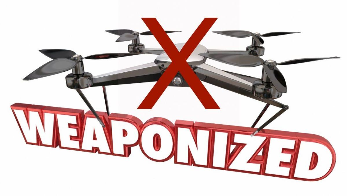 FAA public service infographic against weaponized drones