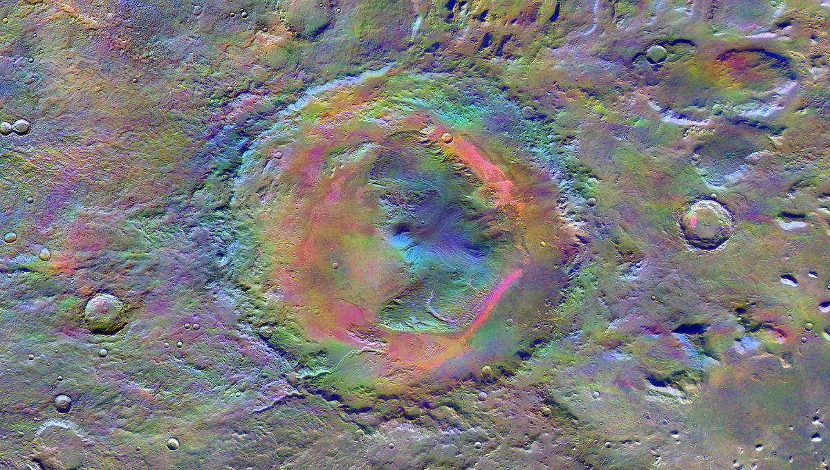 NASA image of Gale Crater on Mars