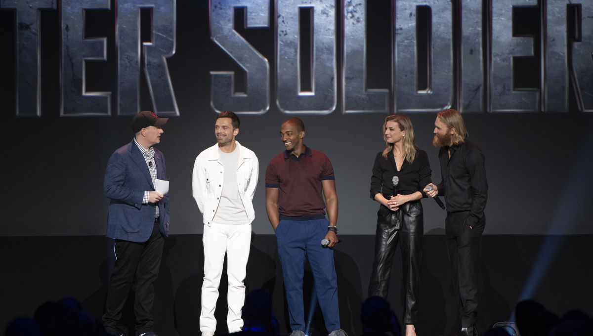 Kevin Feige Sebastian Stan Anthony Mackie D23 The Falcon and the Winter Soldier