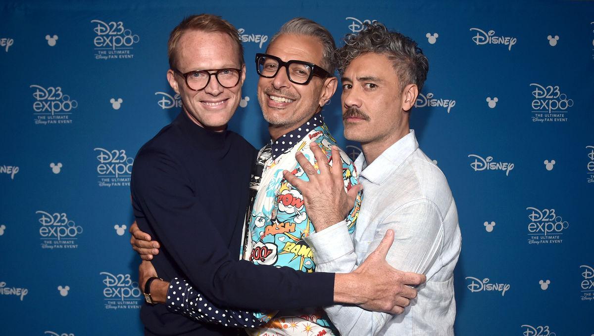 Taika Waititi, Jeff Goldblum and Paul Bettany