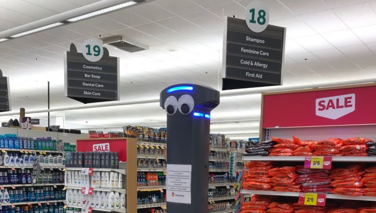 Marty Stop and Shop robot