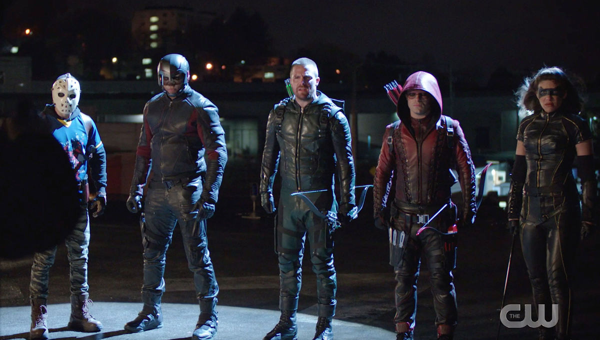 The heroes of Arrow