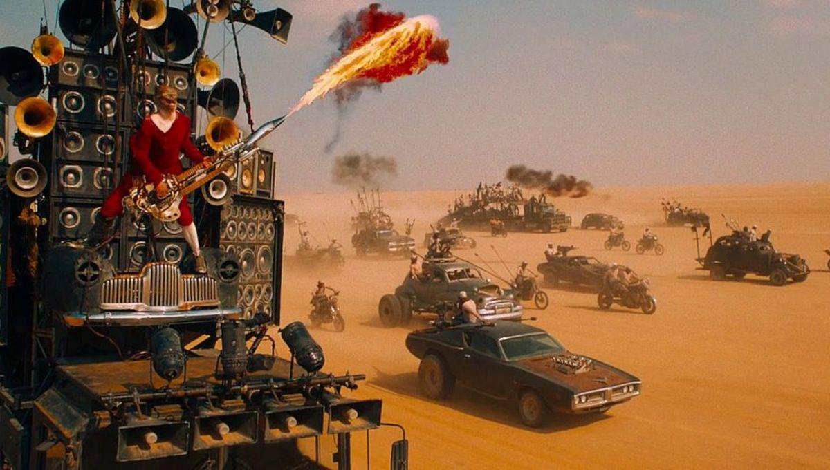 Mad Max: Fury Road flaming guitar guy