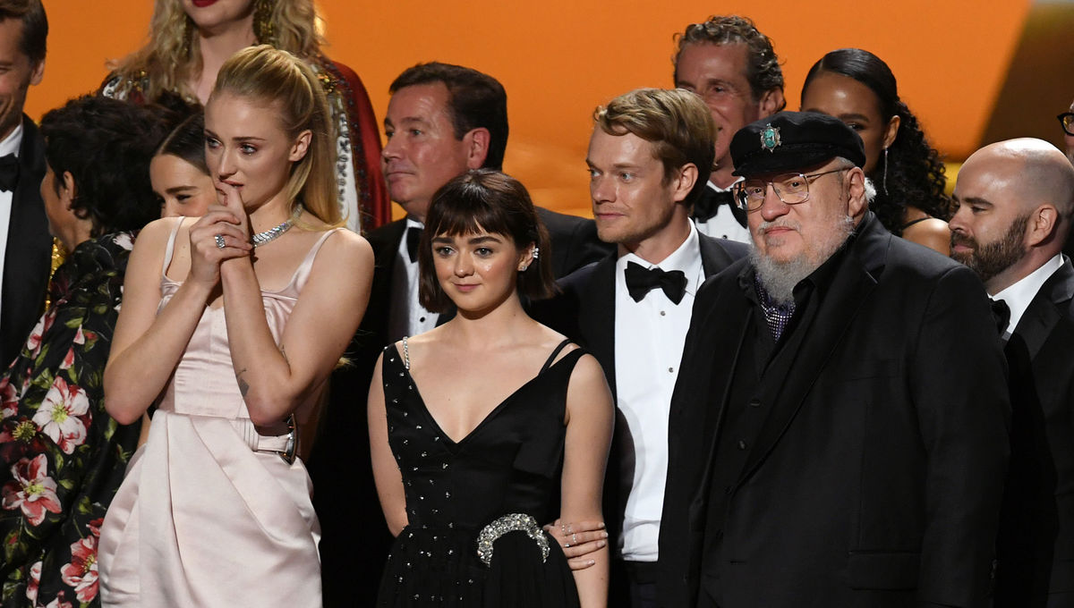 Game of Thrones team at 71st Emmys