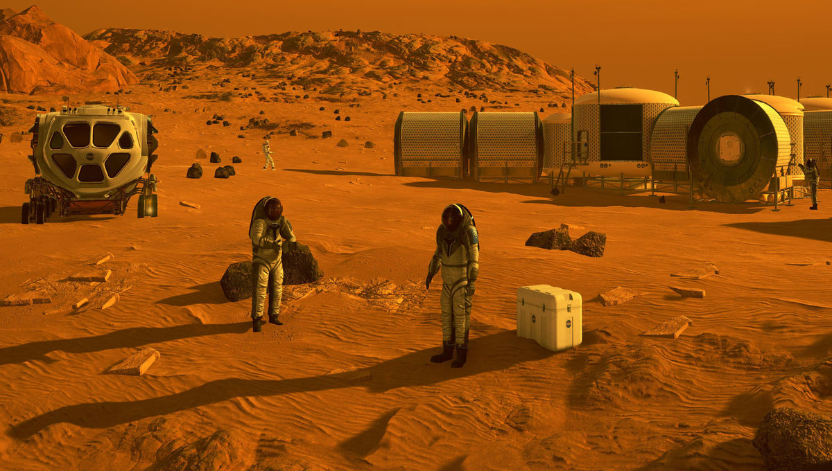 NASA image of a future Mars colony