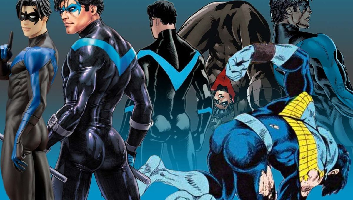 Nightwing's butt and ass