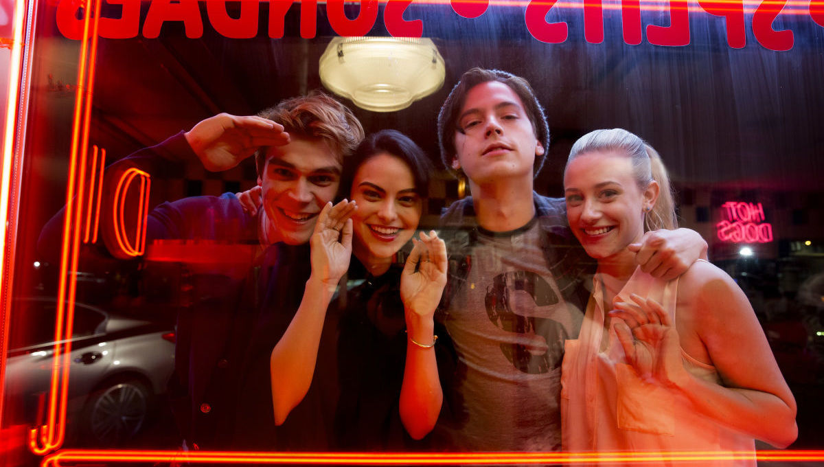 Cole Sprouse, Lili Reinhart, Camila Mendes, and K.J. Apa in Riverdale