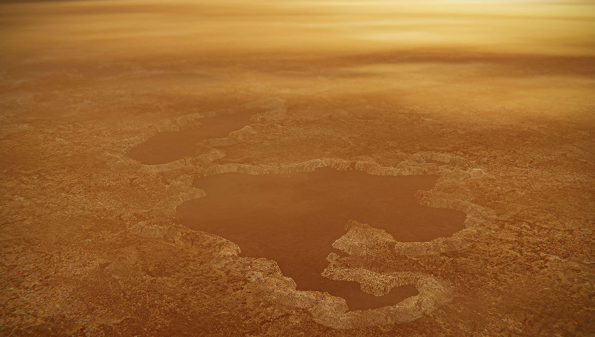 NASA image of Titan