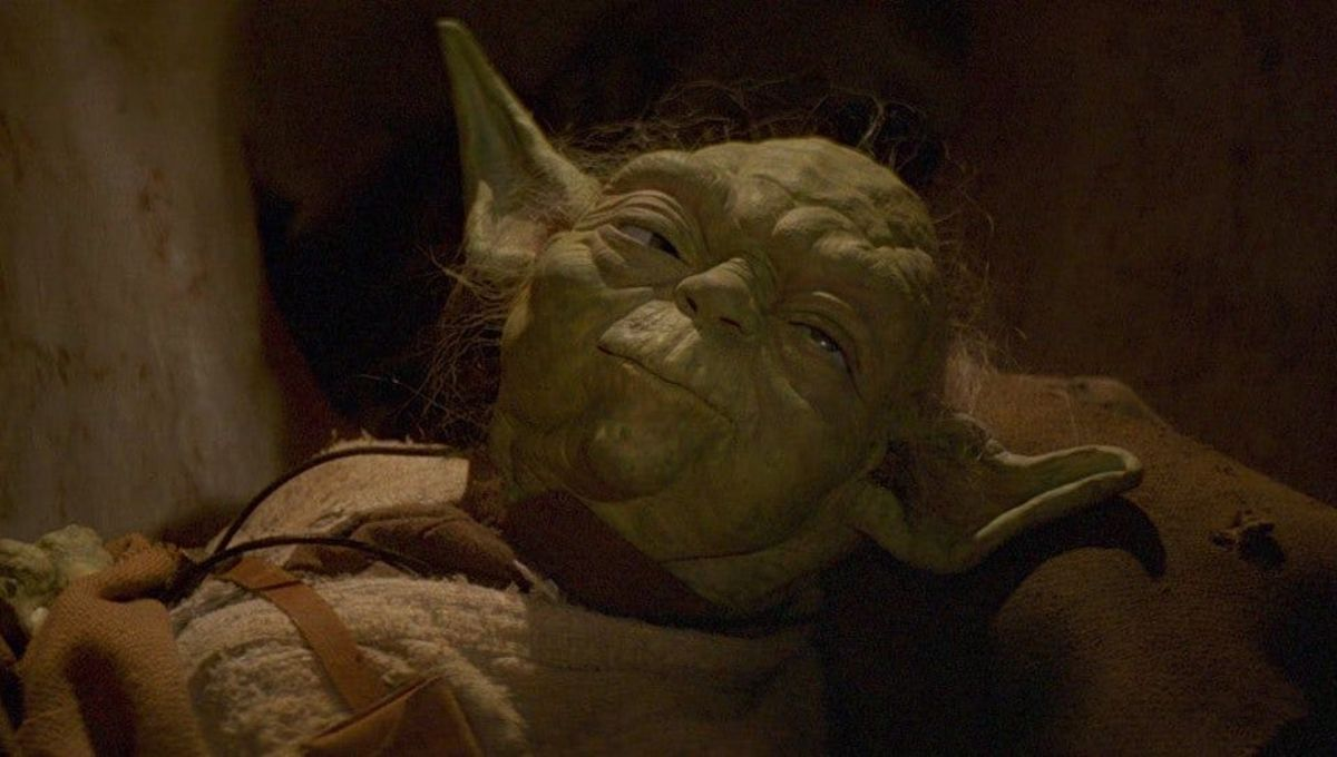 Yoda rests in Return of the Jedi
