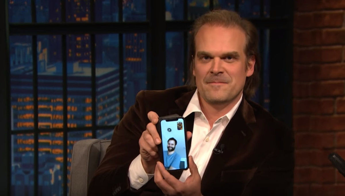 David Harbour Late Night Duffer Brothers