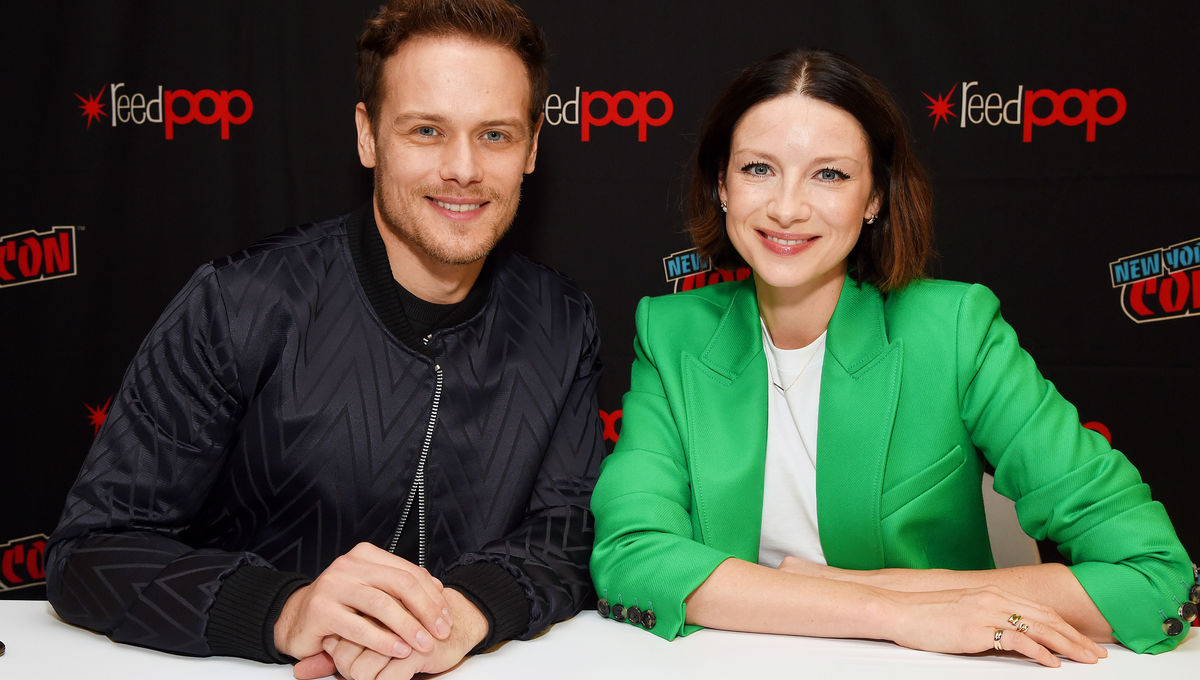 Caitriona Balfe and Sam Heughan of Outlander
