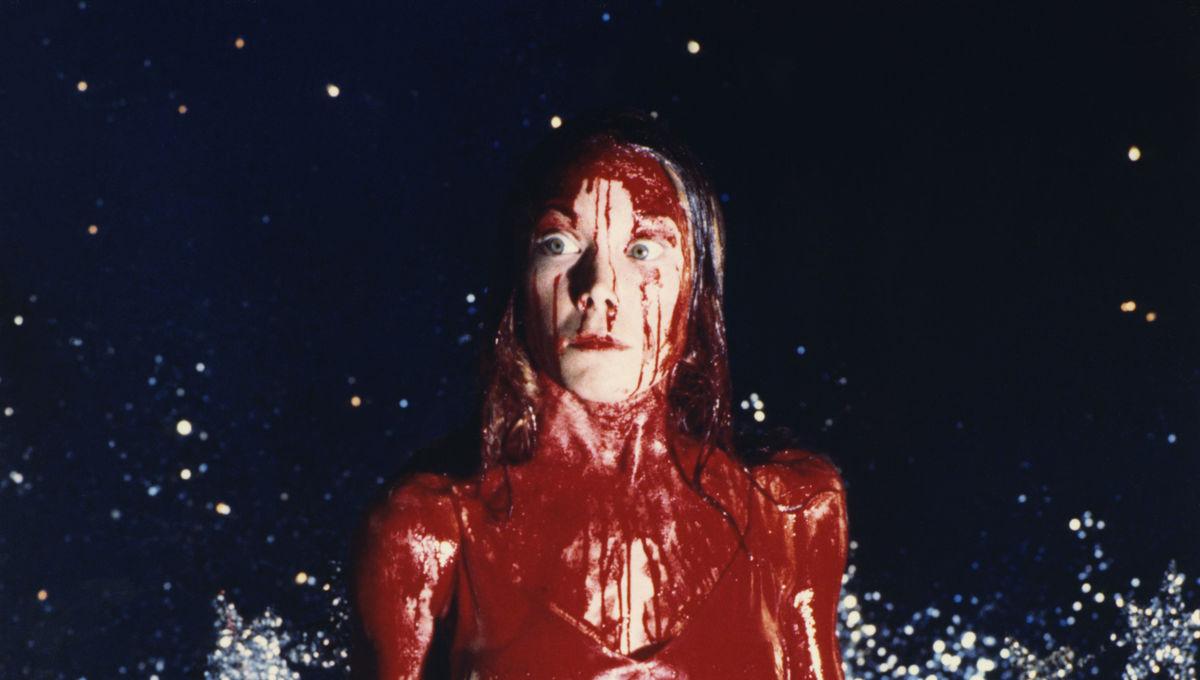 Sissy Spacek on the set of Carrie