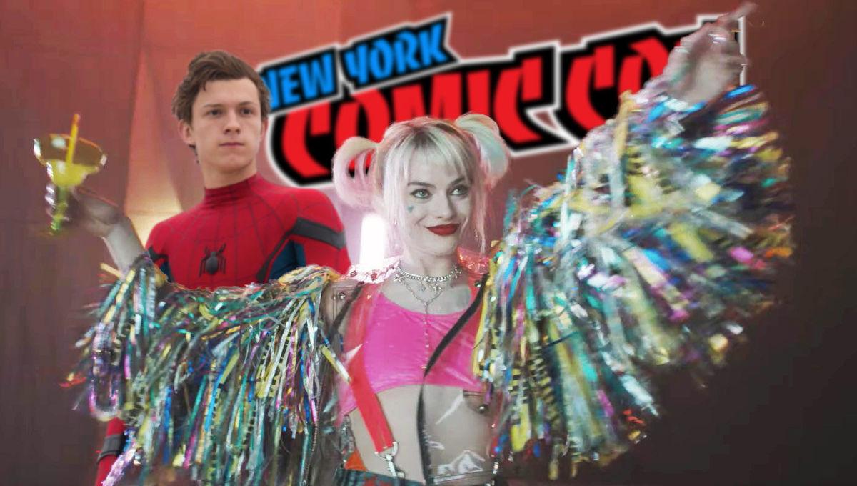 harley quinn spider-man comic con