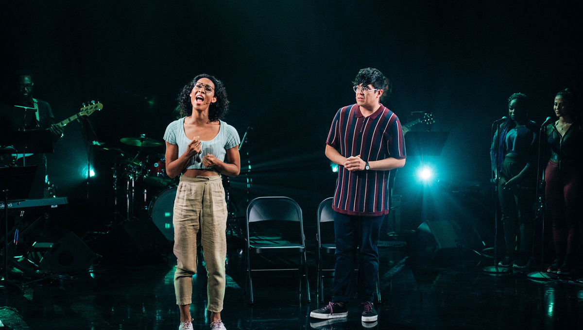 "MJ Rodriguez performs ""Suddenly Seymour"" with George Salazar"