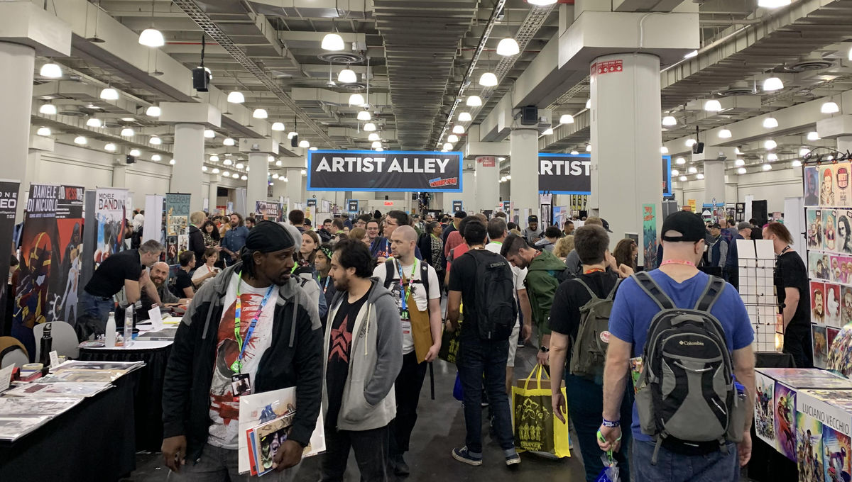 artist alley at NYCC 2019